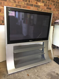 Panasonic widescreen TV and stand. Model TH-42PX600B