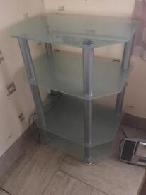 Glass three tier stand