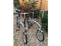 Pair of folding bikes