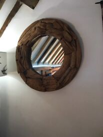 Driftwood mirrors and decorations