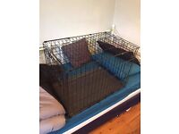Black Metal Foldable Dog Cage