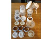 Avent manuel breast pump with milk collection bags
