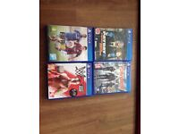 4 Games PS4: The Division, Payday 2, W2K 15, Fifa 15