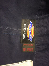 DICKIES, REDHAWK MENS WORK TROUSERS NAVY BLUE SIZE 44T