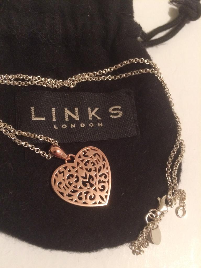 Links of London Heart Tapestry 45cm Rose Gold *Christmas present*