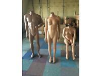 Shop display mannequins