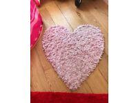 Kids heart rug