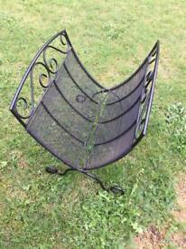 Log basket for fire, wood burner or stove