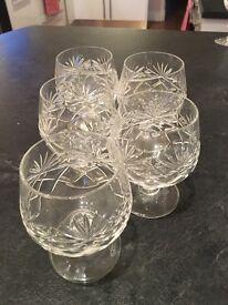 Edinburgh Crystal brandy glasses