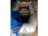 9ft dinghy and outboard