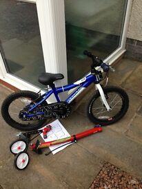 "Kids bike 16"" with Trail-gator"