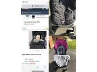 Silver cross pop stroller pushchair and JJ Cole bundleme