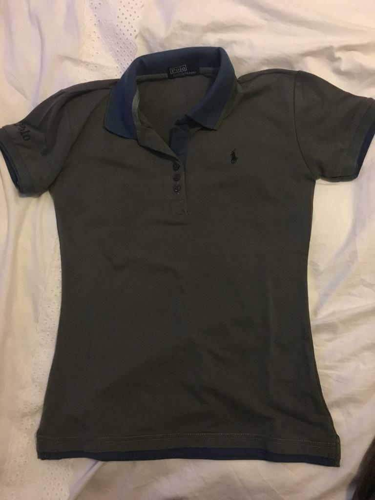 Grey and blue polo