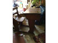 Antique Vintage Wooden School Desk