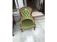Bedroom chair , green in colour , Feel free to view Free local delivery