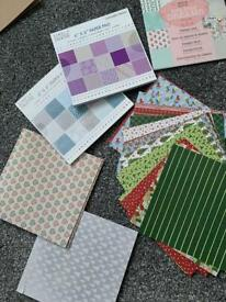 Patterned paper mixture of designs bundle