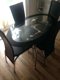 WAS £499 Modern glass table chairs