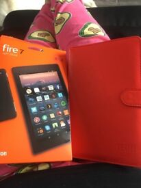 Brand new amazon fire and case