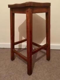 Vintage oak school stool