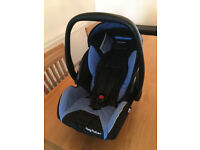 Recaro Car Seat/Carrier - Blue - Young Profi plus - Instructions included