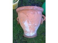 TERRACOTTA GARDEN POT WITH SIDE RINGS