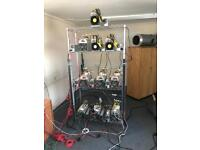 10 Machine, complete cryptocurrency mining set up