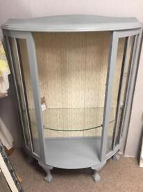 Vintage grey display cabinet