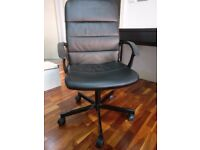Ikea MICKE desk with integrated storage + TORKEL swivel chair