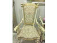 Italian antique living room furniture with matching dining table and chairs.