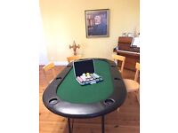 Brand new poker black jack card game table for 6 people