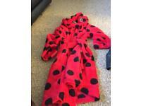 Girls 4/5 ladybird dressing gown