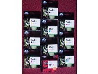 HP 364XL ink cartridges - various colours, new, genuine, boxed, free postage available