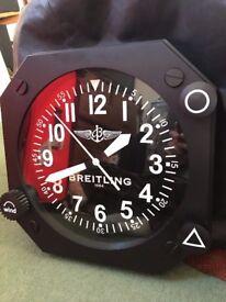 Breitling Wall clock (watch/ Watches) Aviation Rare dealer Jeweller shop