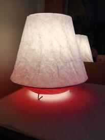 White & Red Ikea Paper Lantern
