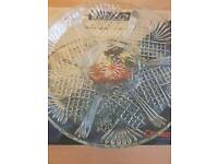 Never used serving glass dish