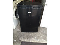 A Class WHIRLPOOL Black Under Counter Just Fridge with 90 Days Warranty