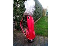 Wilson Golf Bag & left handed clubs