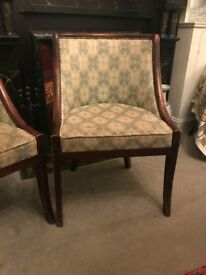 Pair of French occasional chair