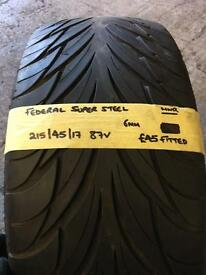 215/45/17 87V FEDERAL TYRE