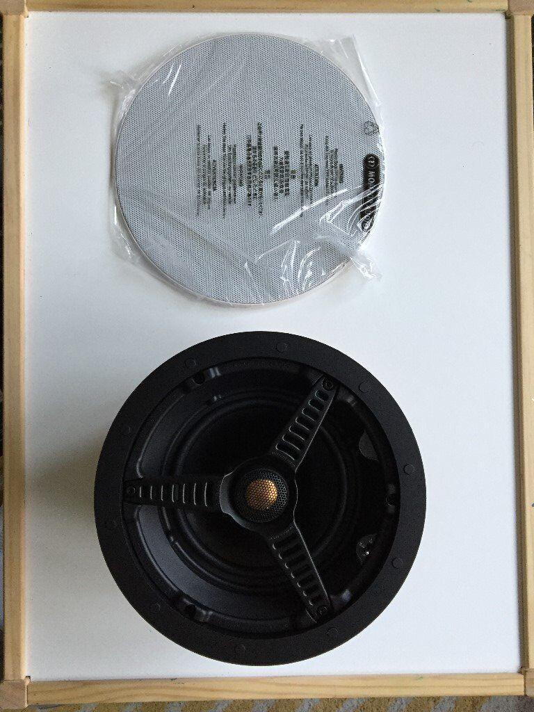 2x Monitor Audio C165 ceiling speakers, excellent choice for Sonos.BNIB