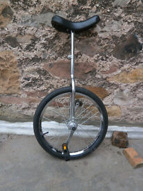 "Raleigh 20"" Chrome Unicycle"