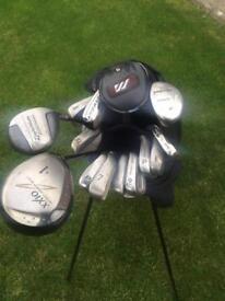 Golf clubs 3-sw & stand bag £50 ono