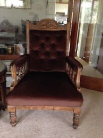 Pair of lovingly restored antique armchairs, now reduced!