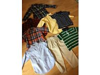 LOVELY COLLECTION OF RALPH LAUREN BOY'S CLOTHES AGE 4