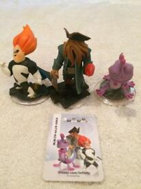 3 Disney Infinity 1.0 Figures