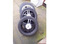 SET OF 4 FORD FOCUS 15 INCH ALLOY WHEELS