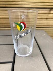 Woodpecker pint glasses bar pub club man cave