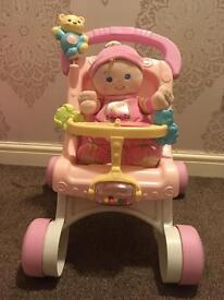 My first pram and doll