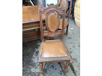 Dining table x4 chairs antique