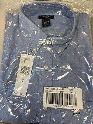 Ralph Lauren Mens Cotton Shirt Oxford Blue Crest Emblem - (USA M),...